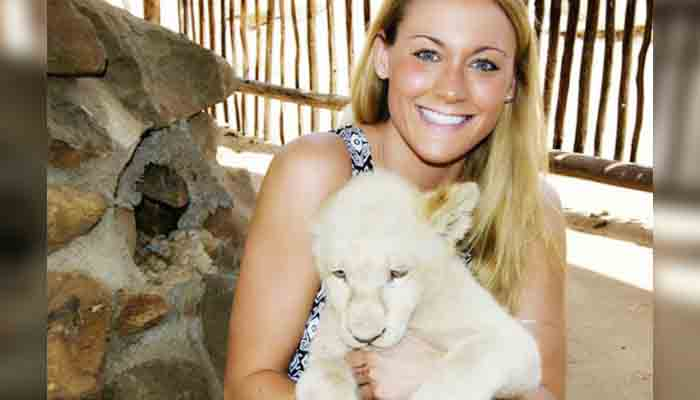 Cassandra with Lion Cubs