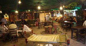 Courtyard of Panj Vehra Restaurant