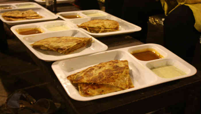 Chicken Parathas at Restaurant in Lahore