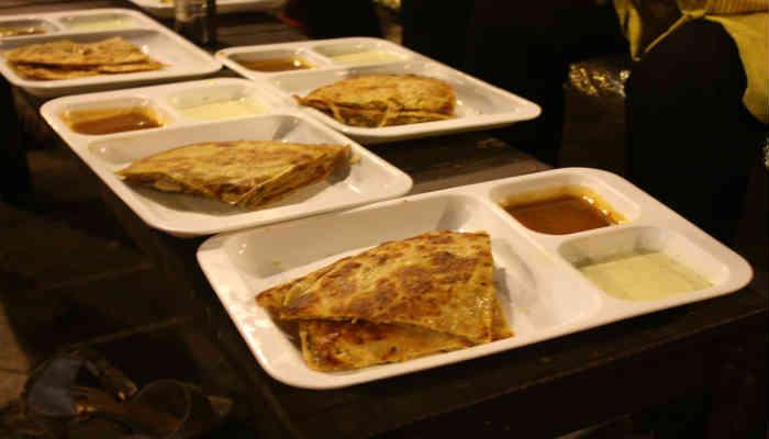 Chicken Parathas at Restaurant in Lahore
