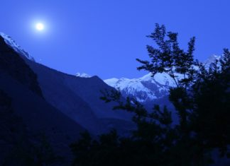 Full Moon Snow Mountain Shigarthang-Skardu