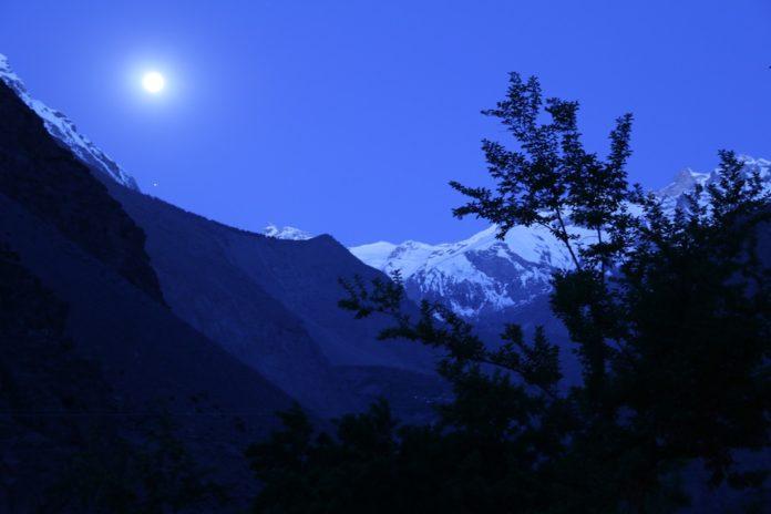 Full Moon Snow Mountain Shigarthang-Skardu