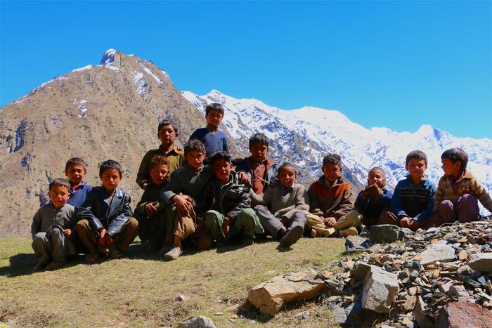 children Shigarthang Valley Skardu