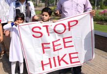 private school fee hike protest