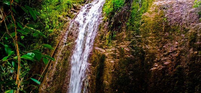 small water fall in village